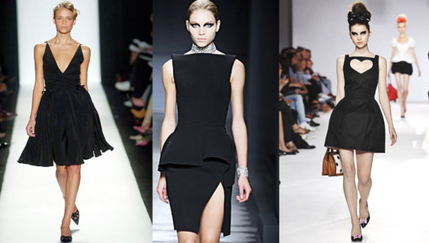 Ufak kara elbiseden kızgın morarmış elbiseye